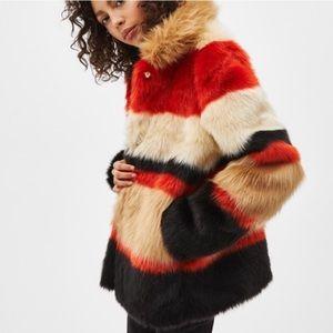 NEW Faux fur multi color jacket